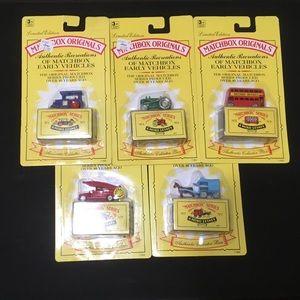 Vintage Matchbox Originals set of 5